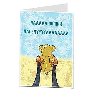 Amazon.com: Tarjeta de felicitación divertida para bebé con ...