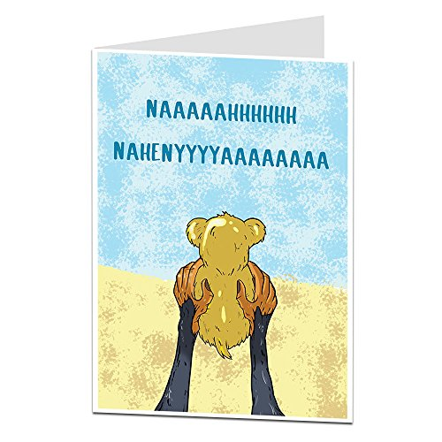 Funny New Baby Card Congratulations On The Birth New Boy Girl -