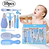 Nursery Care kit, Kapmore 10 Pcs Baby Grooming Kit Infant Care Kit Healthcare Nursery Essential Baby Manicure Set