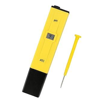 pH Medidor de Digital Portátil de Alta Precisión con ATC, LCD Retroiluminación y Funda, Tester para Acuarios ...