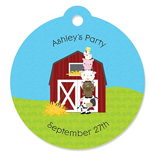 Custom Farm Animals - Personalized Baby Shower or Birthday Party Favor Gift Tags (Set of (Baby Shower Personalized Favors)