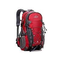 Tofern Multifunctional Unisex 40L Outdoor Waterproof Anti-wear Durable Hiking Daypack Camping Backpack Travel Trekking Mountaineer Rucksacks School Bag -Red