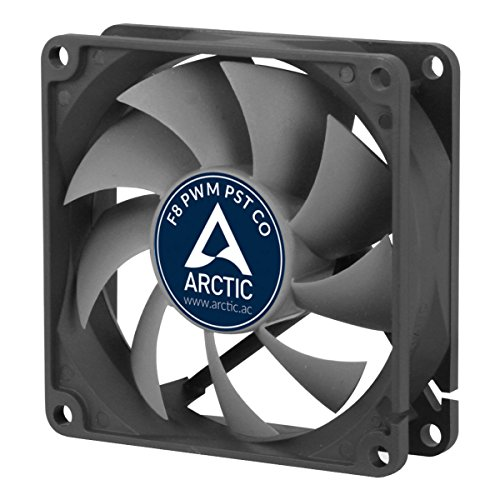 Arctic AFACO-080PC-GBA01 ARCTIC F8 PWM PST CO - 80mm Dual Ball Bearing Low Noise PWM Standard Case Fan with PST Feature - Ideal for Systems running 24/7