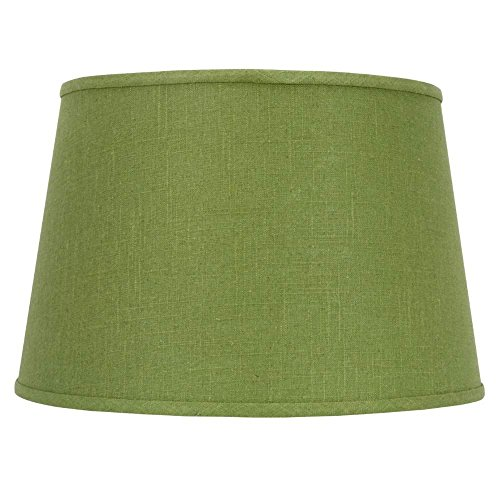 Upgradelights Apple Green Linen 16 Inch Drum Floor or Table Lampshade with Washer Fitter ()