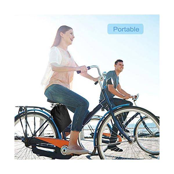 51p%2Bfee0hSL BICASLOVE Fahrradabdeckung Wasserdicht, Fahrradschutzhülle Fahrradträger für 2 Fahrräder Wasserfest Atmungsaktiv…
