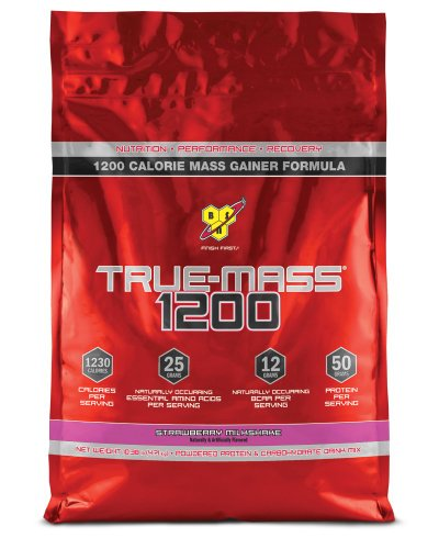 TRUE-MASS 1200, Strawberry Milkshake, 10.38 Pound