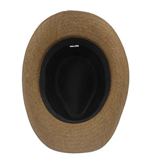 58 Fashion de Sombrero para mujer paja Café diseño vaquero de cm Wkae café 6vAqd6