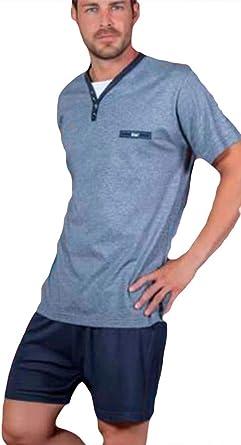 KLER - Pijama Clasico Hombre Corto Verano Hombre : Amazon.es