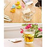 YSTD 10pcs Cute Snail Shape Silicone Tea Bag Holder