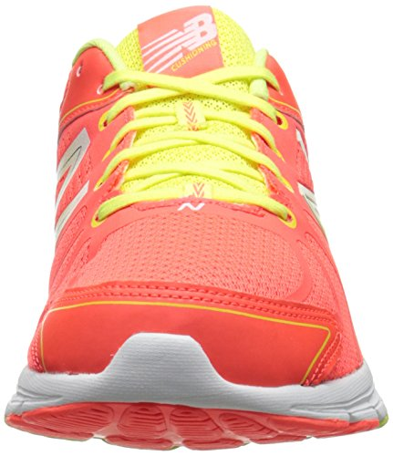 New Balance Women's W690V3 Running Shoe,Orange/White,8 B US