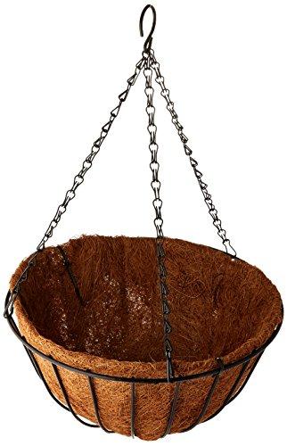 - Gardman R407 Black Traditional Hanging Basket with Coco Liner, 12