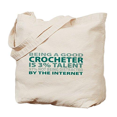 Cafepress–Good Crocheter–Borsa di tela naturale, tessuto in iuta
