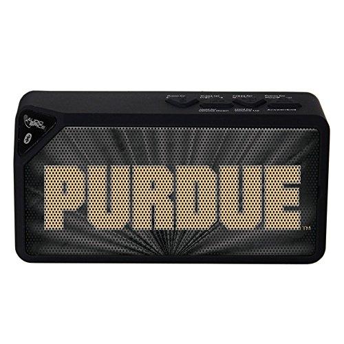 (AudioSpice NCAA Purdue Boilermakers BX-100 Bluetooth Speaker, Black)