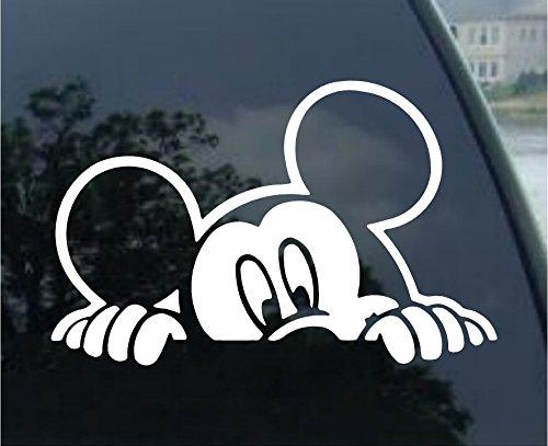 Mickey Mouse Peeking Car Window Vinyl Decal Sticker 5 Wide by SoCoolDesign