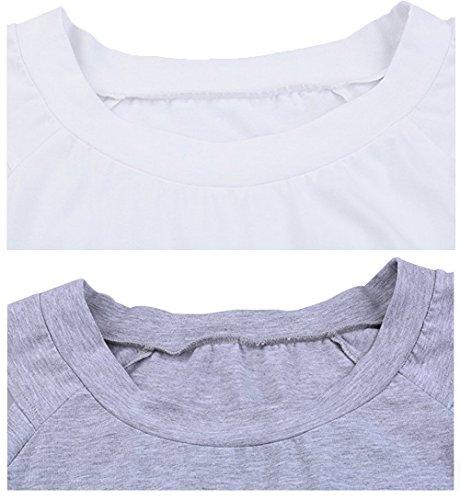 Para Camisas Profunda Gris Mujer Zerlar B8Twqcn5