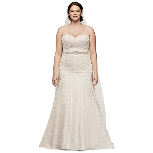 Allover Lace Mermaid Plus Size Wedding Dress Style 9WG3842 ...