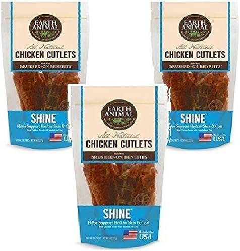 Earth Animal - Shine - Chicken Cutlet Treats 8oz Each (3 Pack)