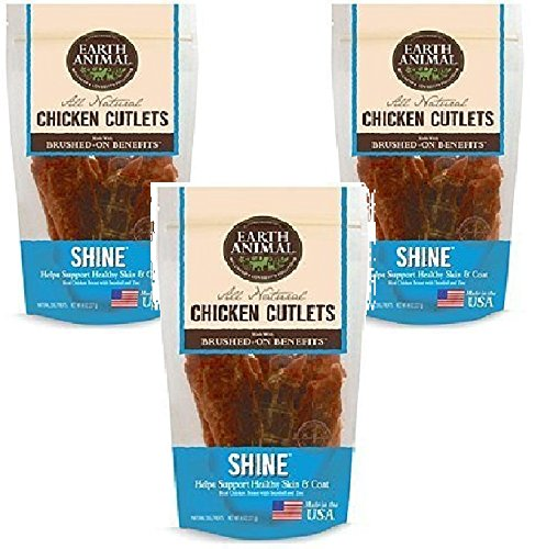Earth Animal - Shine - Chicken Cutlet Treats 8oz Each (3 Pack)
