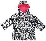 Capelli New York Little Girls Sketchy Zebra Stripes Rain Slicker