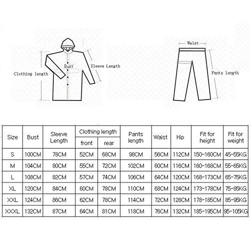 Yuyi Impermeabile Disponibili Cappuccio All'aperto Kit Giacca Pantaloni Antipioggia Colori Con Adulti Per Tuta E Leggeri Zzhf C 4 Poncho Colore EqTYxdE
