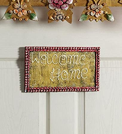 Buy 999store Welcome Home Tray Main Door Custom Name Plate