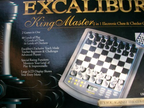 Excalibur King Master 2 in 1 Electronic Chess & Checker Game by Excalibur