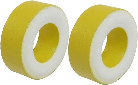 2 Stücke Gelb Weiß Eisen Kern 27 mm x 14 mm x 11 mm Ferrit Rings Ringkern