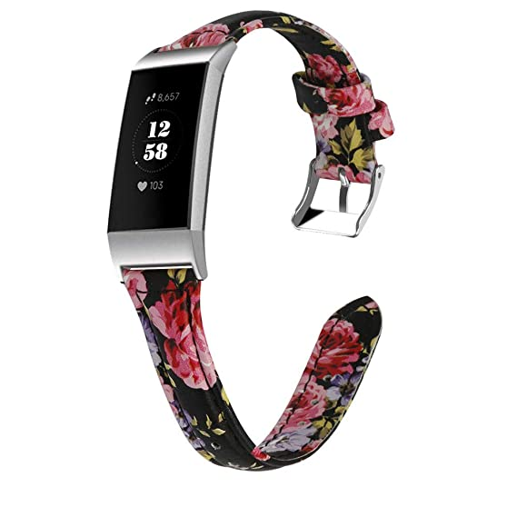 Amazon com: Slim Bands Compatible with Fitbit Charge 3, Retro