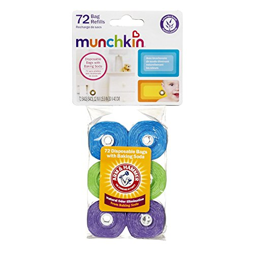 Large Product Image of Munchkin Arm and Hammer Diaper Bag Refills, 72 Count