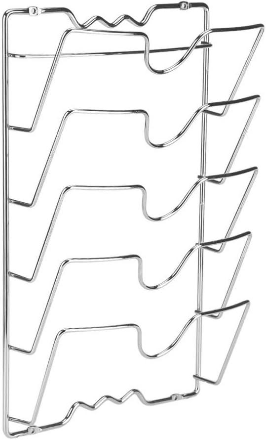 Scaffali con Coperchio per Montaggio a Parete Rack per organizzatore per Armadio da Cucina Deposito per Utensili Vention Supporto per Coperchio per pentole Nero Set di 2