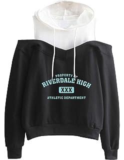 702bc131f5e998 Pullover Damen Locker, Teenager Mädchen Herren Off Shoulder Kapuzenpulli  Männer Riverdale Southside Serpents Kapuzen Sweatshirt