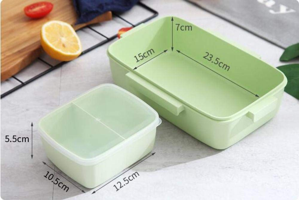 Just For You Bento Box New Creative Four-Sided Buckle Lunch Box Nordic Portable Lunch Box Bamboo Fiber Eco-Friendly Fashion Mark Dragon Lunch Box@Beige