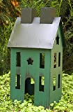 Miniature Garden Rustic Green Patriotic Star Christmas Holiday Tin House