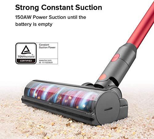 Aspirapolvere senza fili H6, Aspirapolvere senza fili 150AW Aspirazione 1.4kg Leggero 80Wh Batteria Lion Sistema di aggancio 2 in 1 Scopa elettrica 2 spesavip