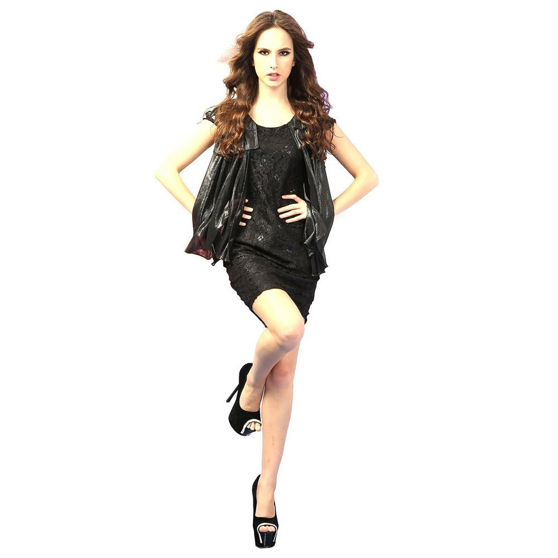 OuLu Women鈥檚 2016 New Designed Black Polyester Dress Casual Wear 271982