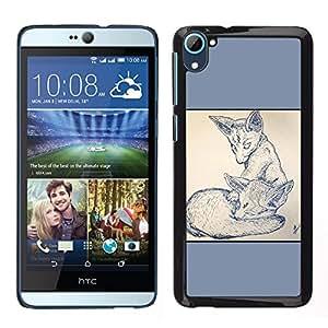 iKiki Tech / Estuche rígido - 2 Zorros - HTC Desire D826
