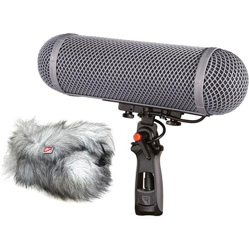 Rycote WS 3 Modular Windshield Kit with CB4 Connbox for Stereo Microphones with 5 Pin XLR Connector, Includes Suspension, Windshield, Windjammer