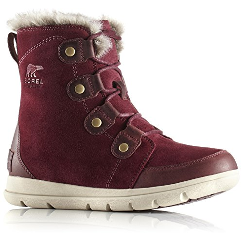 Neige Joan de Fossil Explorer Wine Bottes Ancient 624 Femme Rich Sorel Rouge I54wn