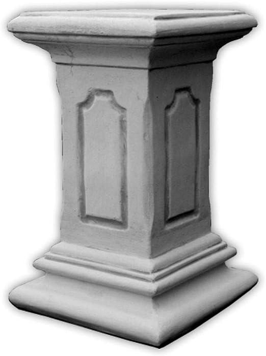 Design Toscano EU2866 Piedistallo la Ghirlanda di Rose 29x29x86.5 cm off Bianco