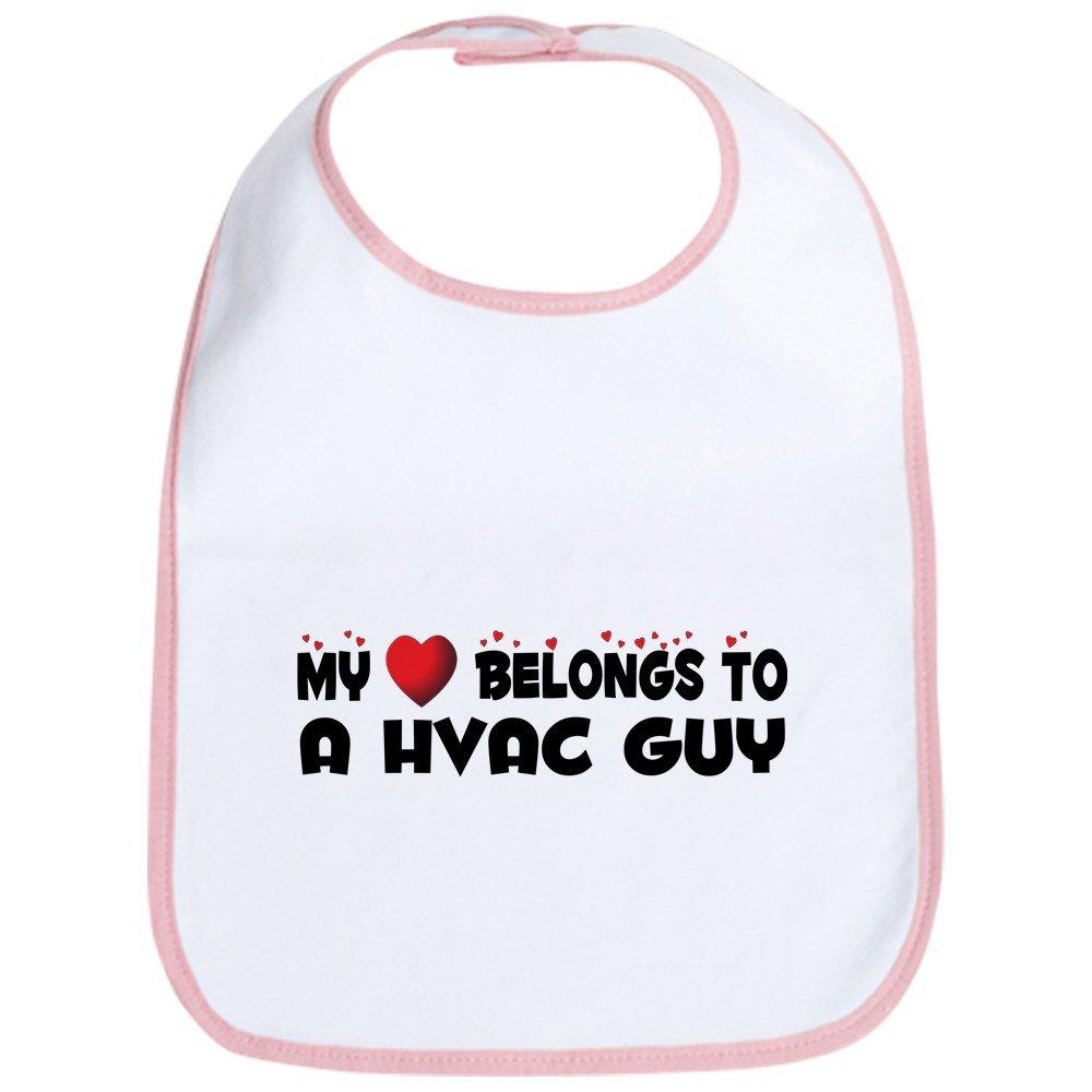 CafePress - Belongs To A HVAC Guy - Cute Cloth Baby Bib, Toddler Bib