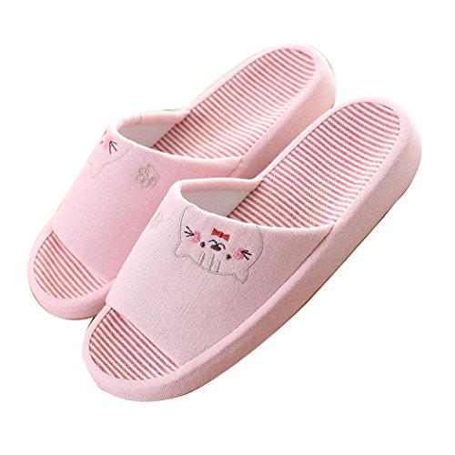Indoor Moxeay Household TPR Slip for Knitted Slippers Children Light Non Pink Cartoon qqYCx7