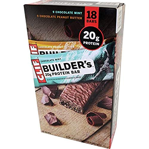 Clif Builder's Protein Bars Variety 9 Pack Mint & 9 Peanut Butter