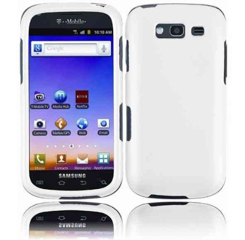 For T-mobil Samsung Galaxy S Blaze 4g T769 Accessory - White Silicon Skin Case Protector Cover + Lf Stylus Pen (Cell Mobil T Samsung Phones)