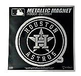 "Stockdale Houston Astros 6"" Metallic MAGNET Silver Style Vinyl Die Cut Auto Home Baseball"