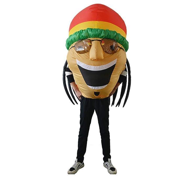 Amazon.com: Disfraz hinchable de jamaiquino, para adulto ...