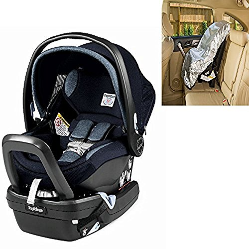 Peg Perego Primo Viaggio Nido Car Seat with Load Leg Base Horizon With Sunshade