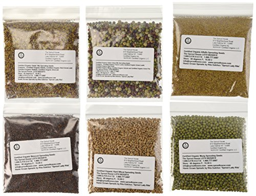The Sprout House Amazon Six - Assorted Organic Sprouting Seeds and Seeds Mixes