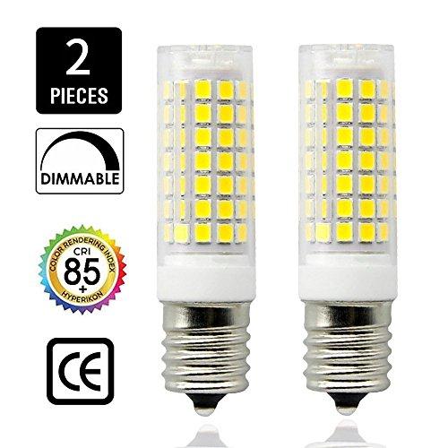 E17 LED Bulb Microwave Oven Light, Daylight White 6000K, 850 Lumens,8.5W (75W Halogen Equivalent), Dimmable E17 LED Bulb,E17 Ceramic Body Candelabra Base, AC110-130V (2 Pack) ()