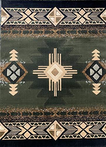 (Concord Global Trading Southwest Native American Area Rug Sage Green Design C318 (8 Feet X 10 Feet))