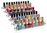 Sooyee Acrylic 6 Layer Nail Polish Rack Tabletop Display Stand on the Table or Desk Holds Up 72 Bottles,Clear 6 Tier Essential Oils Holder 12.2x9.5x6.9 Inches,Pack of 1